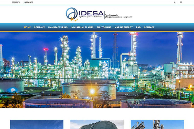 <span>idesa.net</span> Web con intranet · Dos idiomas