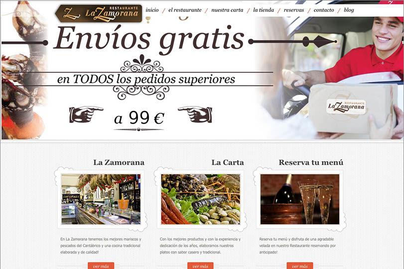 <span>www.lazamorana.net</span> Web Restaurante · Tienda online