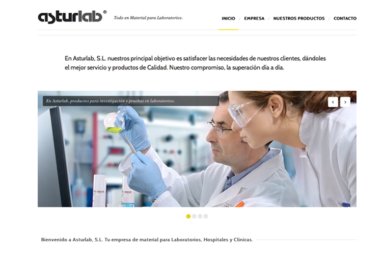 <span>www.asturlab.es</span> Web Corporativa