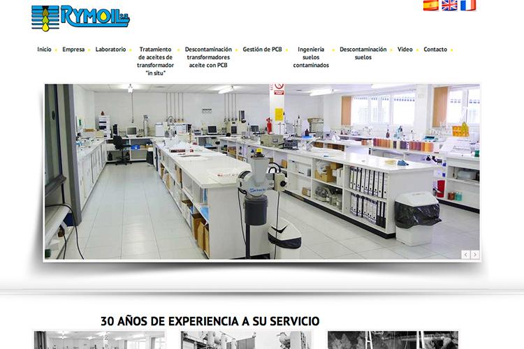 <span>www.rymoil.es</span> Web Corporativa · Tres idiomas