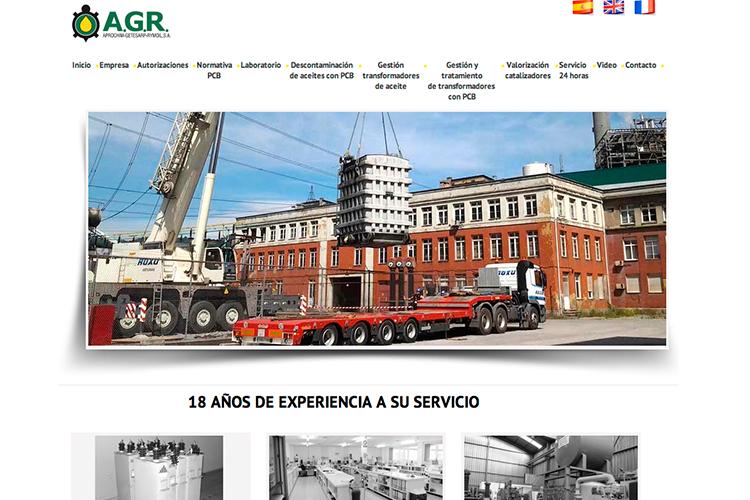 <span>www.a-g-r.es</span> Web Corporativa · Tres idiomas