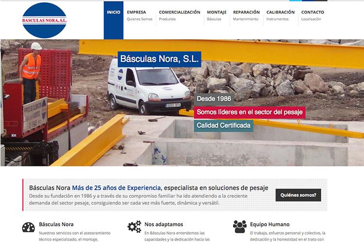 <span>www.basculasnora.com</span> Web Corporativa