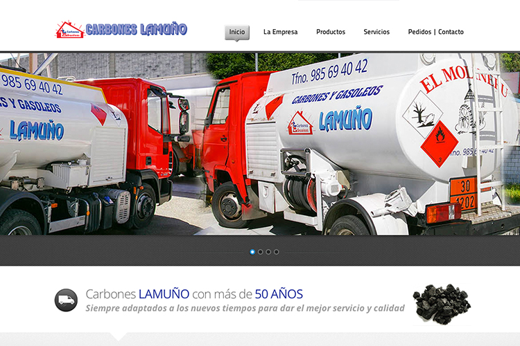 <span>www.carboneslamuno.es</span> Web Corporativa