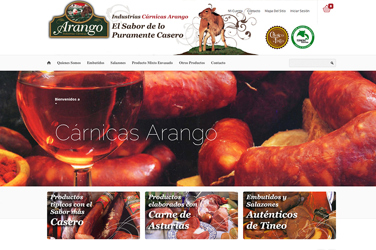 <span>www.carnicasarango.com</span> Web Corporativa