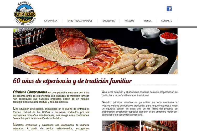 <span>carnicascampomanes.com</span> Web Corporativa