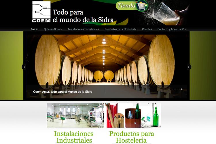 <span>www.coemastur.com</span> Web Corporativa · Tienda online · Cuatro idiomas