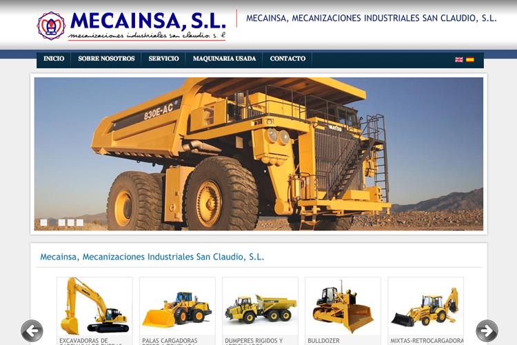 <span>www.mecainsa.com</span> Web Corporativa · Dos idiomas