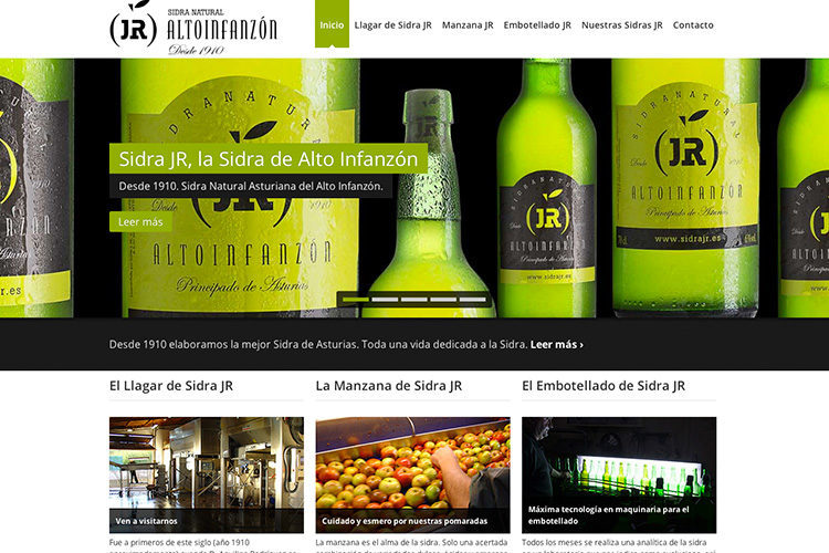 <span>www.sidrajr.es</span> Web Corporativa · Tienda online