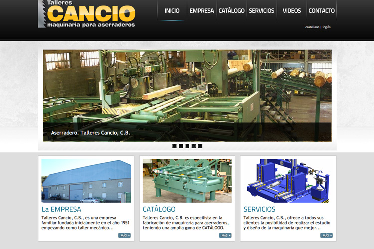 <span>www.tallerescancio.com</span> Web Corporativa · Dos idiomas