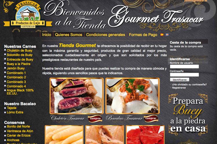 <span>www.carnesrojas.es</span> Tienda online · Dos idiomas