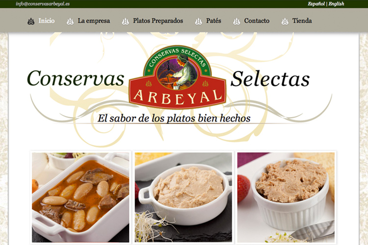 <span>www.conservasarbeyal.es</span> Web Corporativa · Tienda online