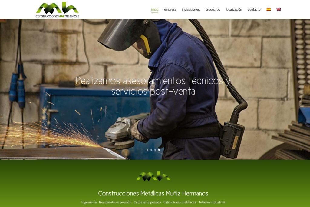 <span>cmmuniz.es</span> Web Corporativa · Dos idiomas