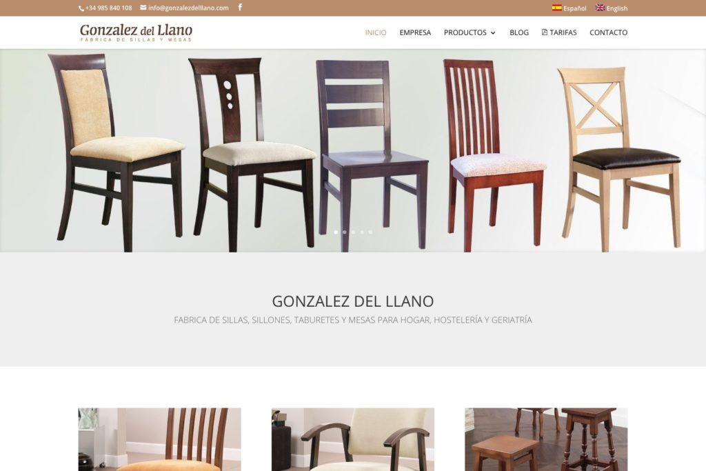 <span>gonzalezdelllano.com</span> Web Corporativa · Catálogo online · Dos idiomas
