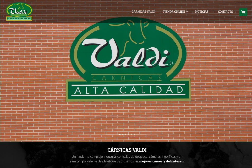 <span>valdi.es</span> Web Corporativa · Tienda online