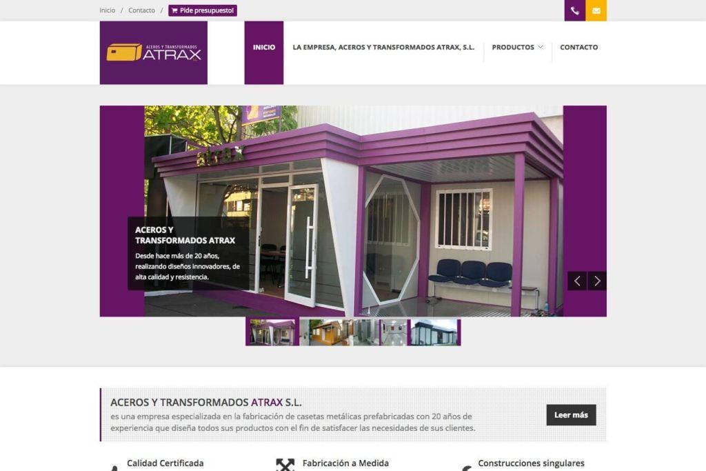 <span>www.acerostransformadosatrax.com</span> Web corporativa