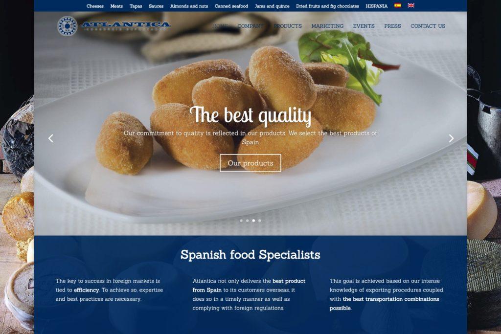 <span>www.atlantica-co.com</span> Web corporativa · Catálogo online · Dos idiomas