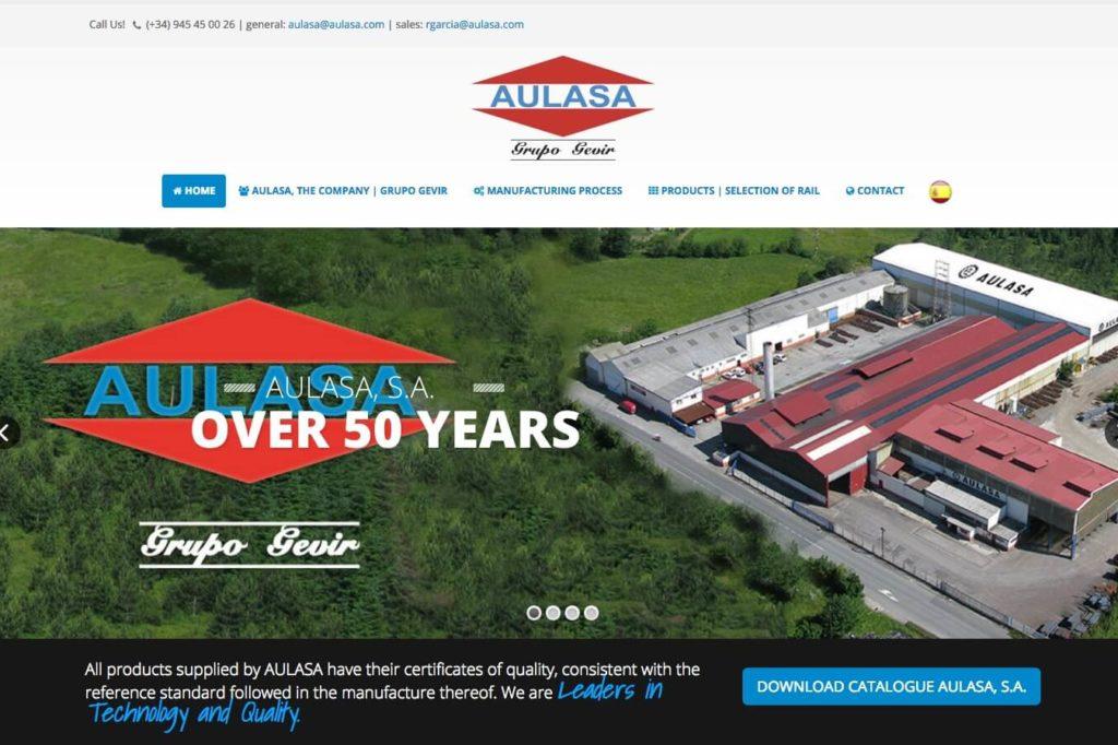 <span>www.aulasa.com</span> Web corporativa · Dos idiomas