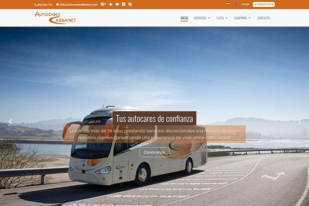 <span>www.autocarescabranes.com</span> Web Corporativa · Dos idiomas