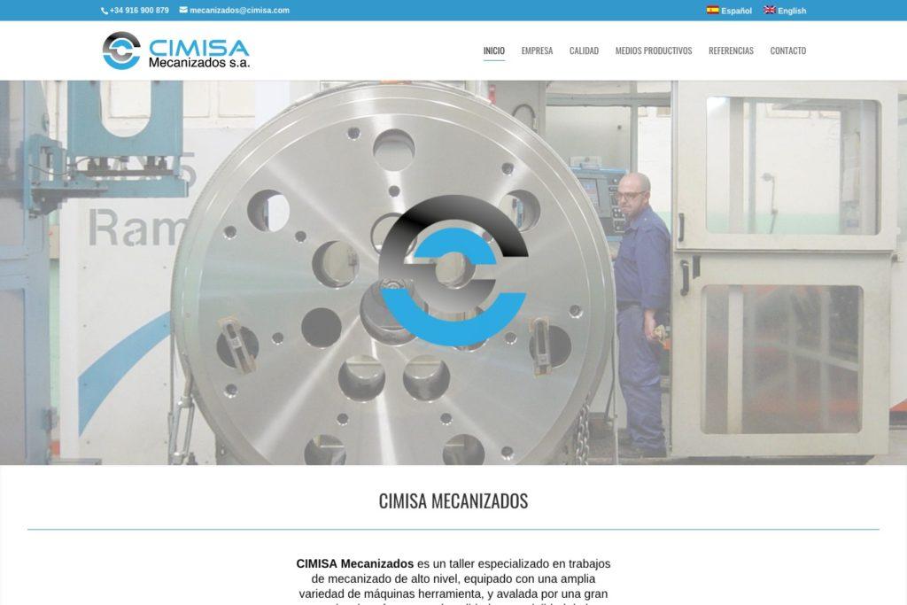 <span>www.cimisa-mecanizados.com</span> Web Corporativa · Dos idiomas