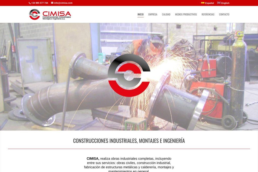 <span>www.cimisa.com</span> Web Corporativa · Dos idiomas