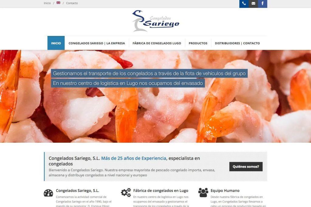 <span>www.congeladossariego.com</span> Web corporativa · Dos idiomas