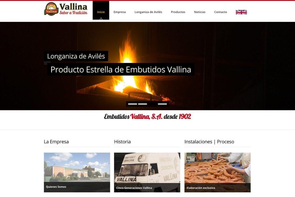 <span>www.embutidosvallina.com</span> Web corporativa · Dos idiomas
