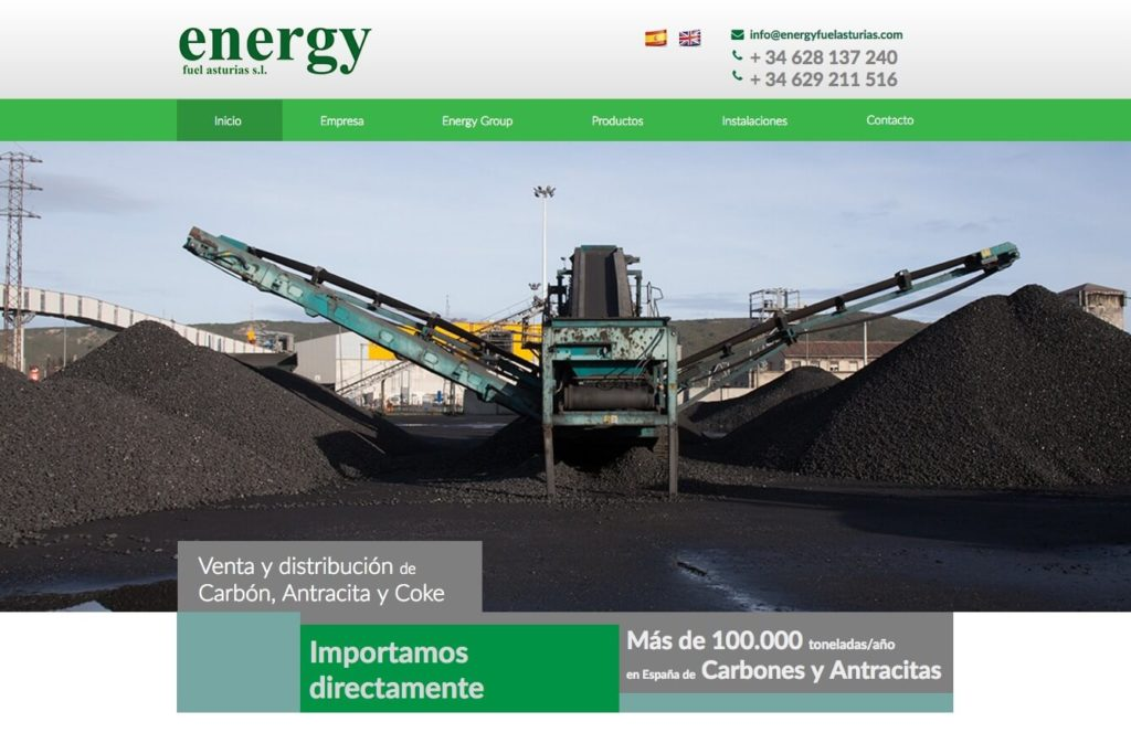 <span>www.energyfuelasturias.es</span> Web corporativa · Dos idiomas