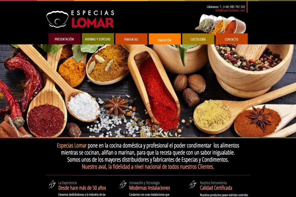 <span>www.especiaslomar.com</span> Web presentación de productos