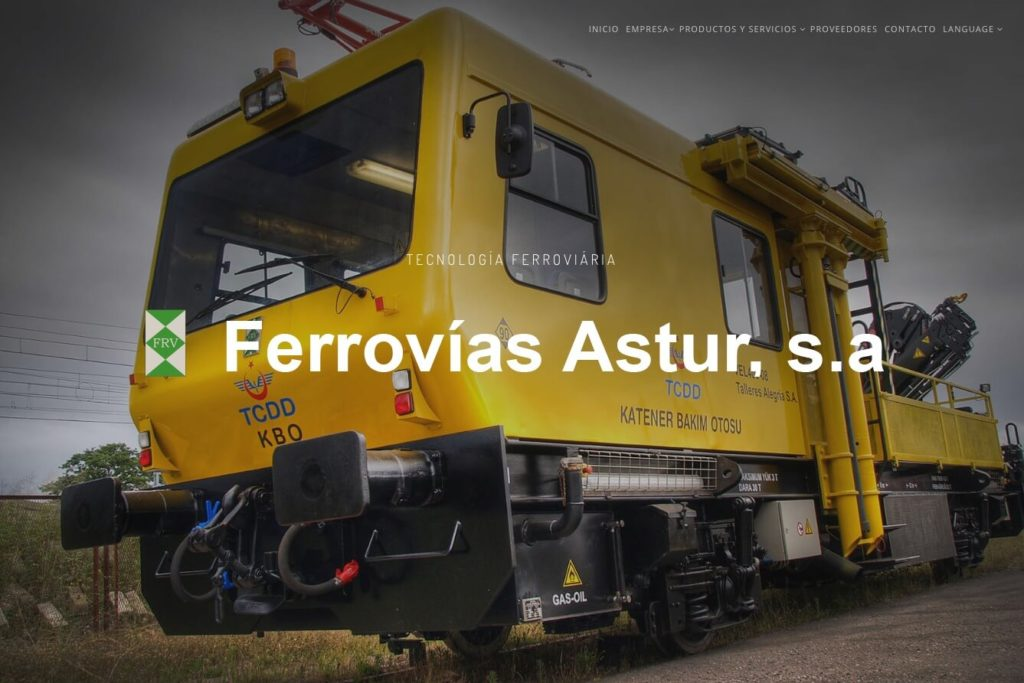 <span>www.ferroviasastur.com</span> Web corporativa · Dos idiomas