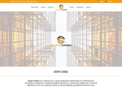 <span>www.grupocimisa.com</span> Web Corporativa · Dos idiomas