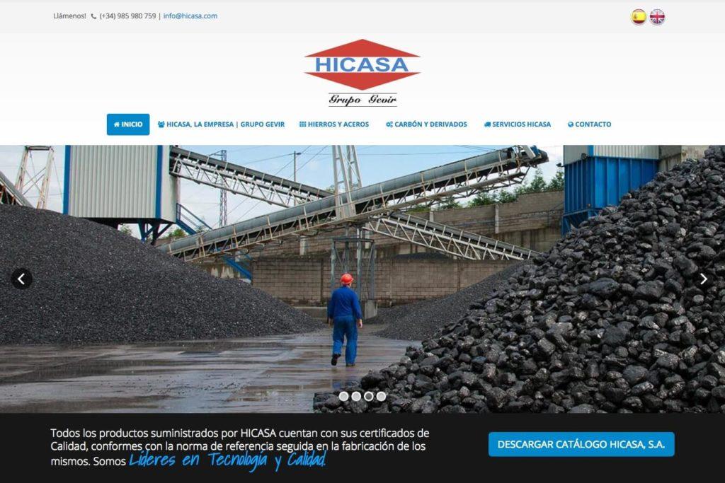 <span>www.hicasa.com</span> Web corporativa · Dos idiomas