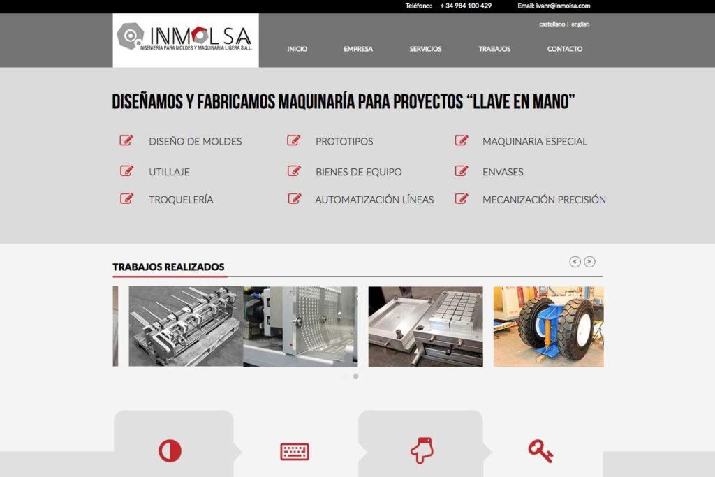 <span>www.inmolsa.com</span> Web corporativa · Dos idiomas
