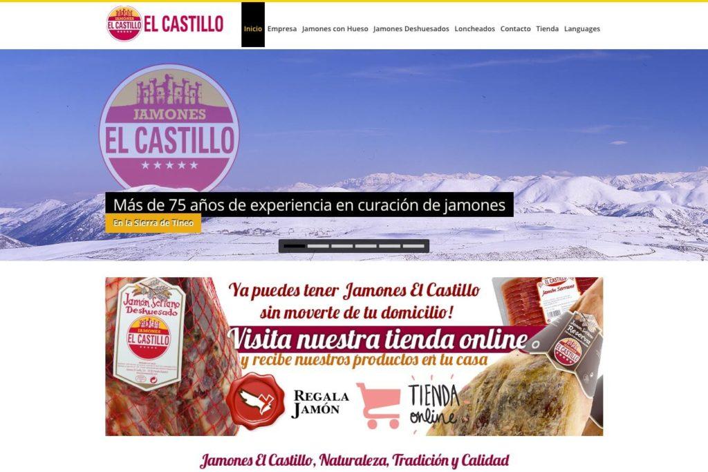 <span>www.jamonescastillo.com</span> Web corporativa · Tienda online · Cuatro idiomas