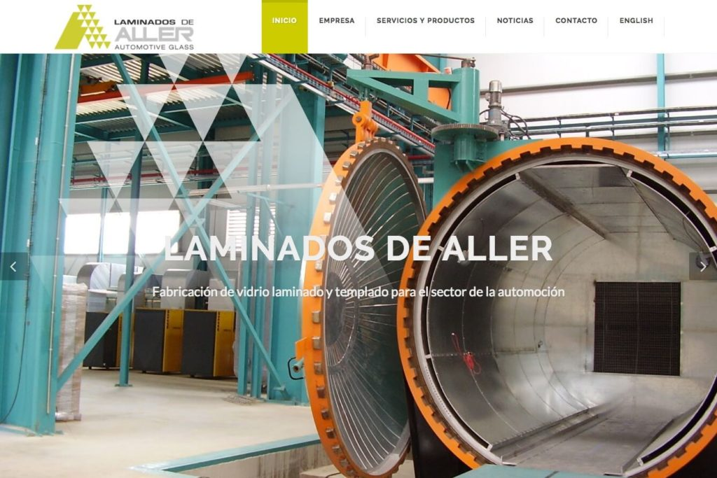 <span>www.laminadosdealler.com</span> Web corporativa · Dos idiomas