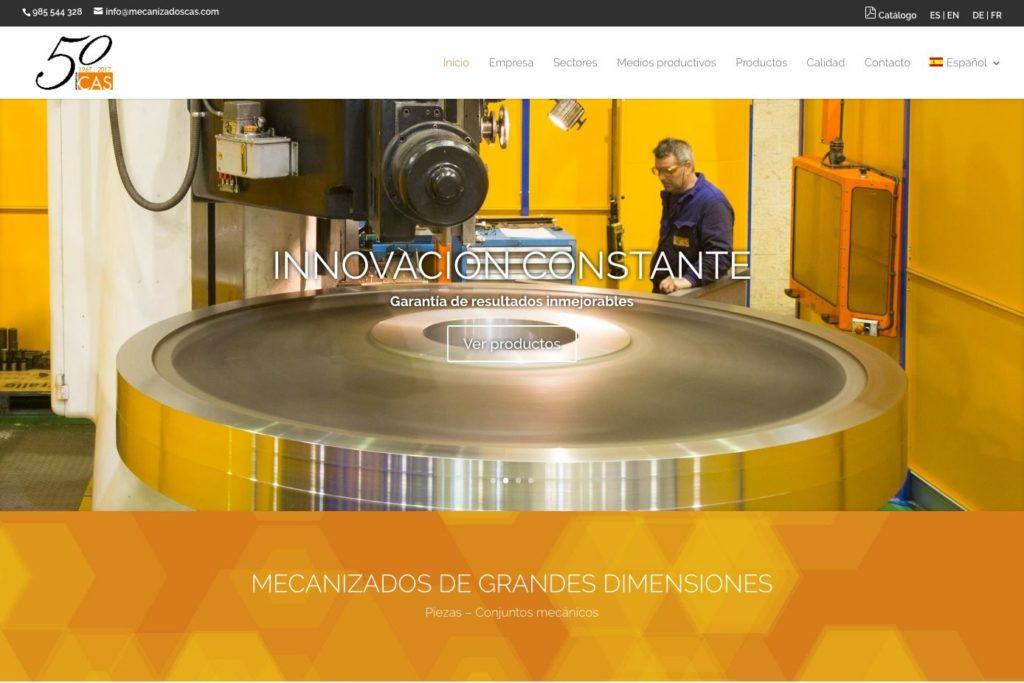 <span>www.mecanizadoscas.com</span> Web Corporativa · Dos idiomas