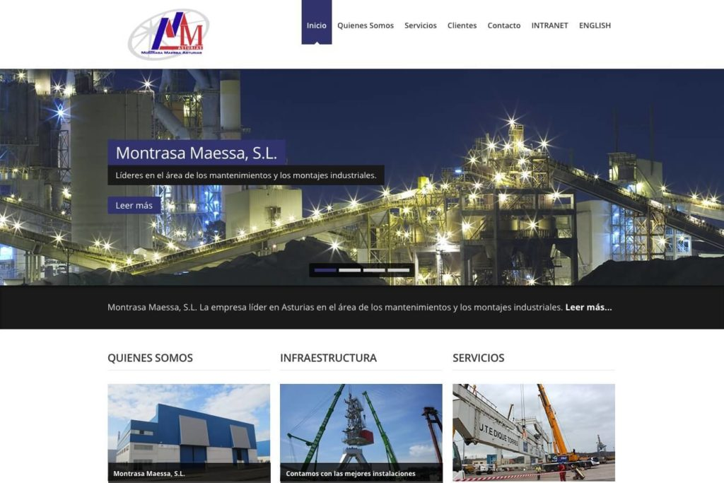 <span>www.mmasturias.es</span> Web corporativa · Intranet · Dos idiomas