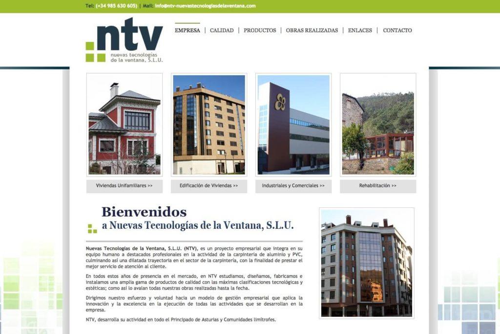 <span>www.ntv-nuevastecnologiasdelaventana.com</span> Web con gestor de contenidos