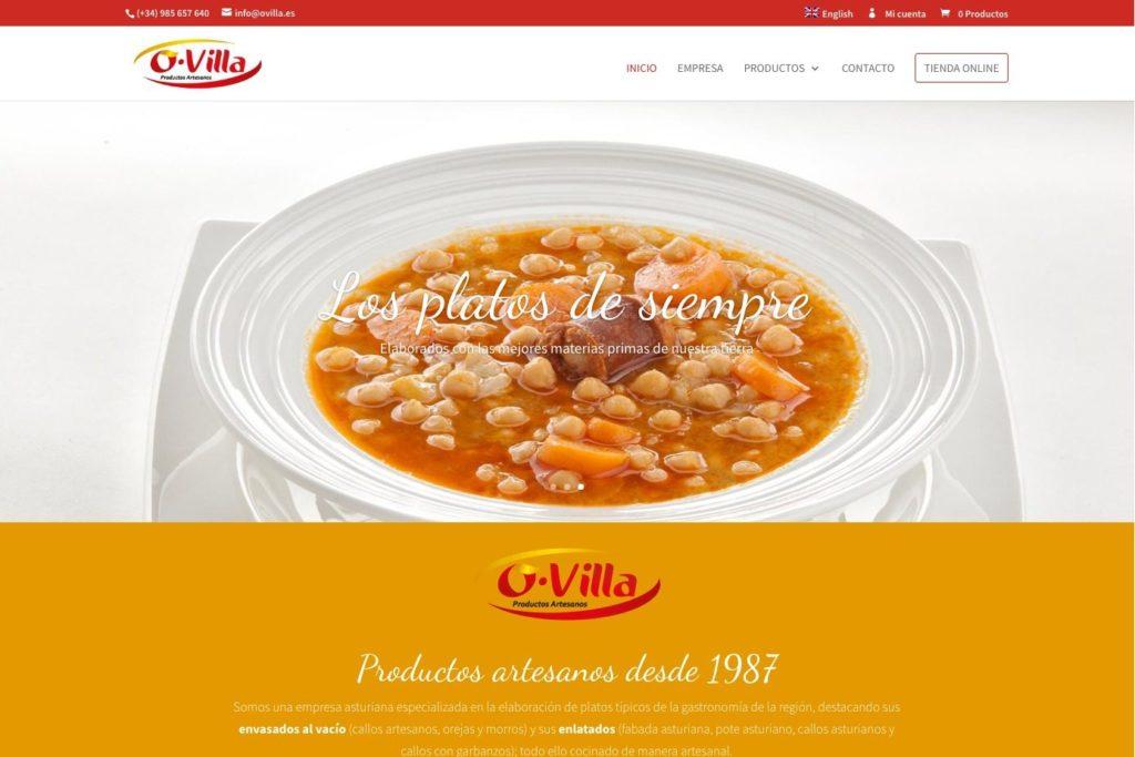 <span>www.ovilla.es</span> Web corporativa · Tienda online · Dos idiomas