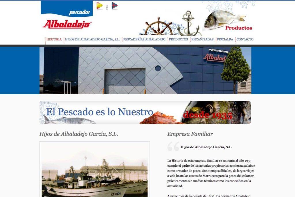 <span>www.pescadosalbaladejo.com</span> Web corporativa · Dos idiomas