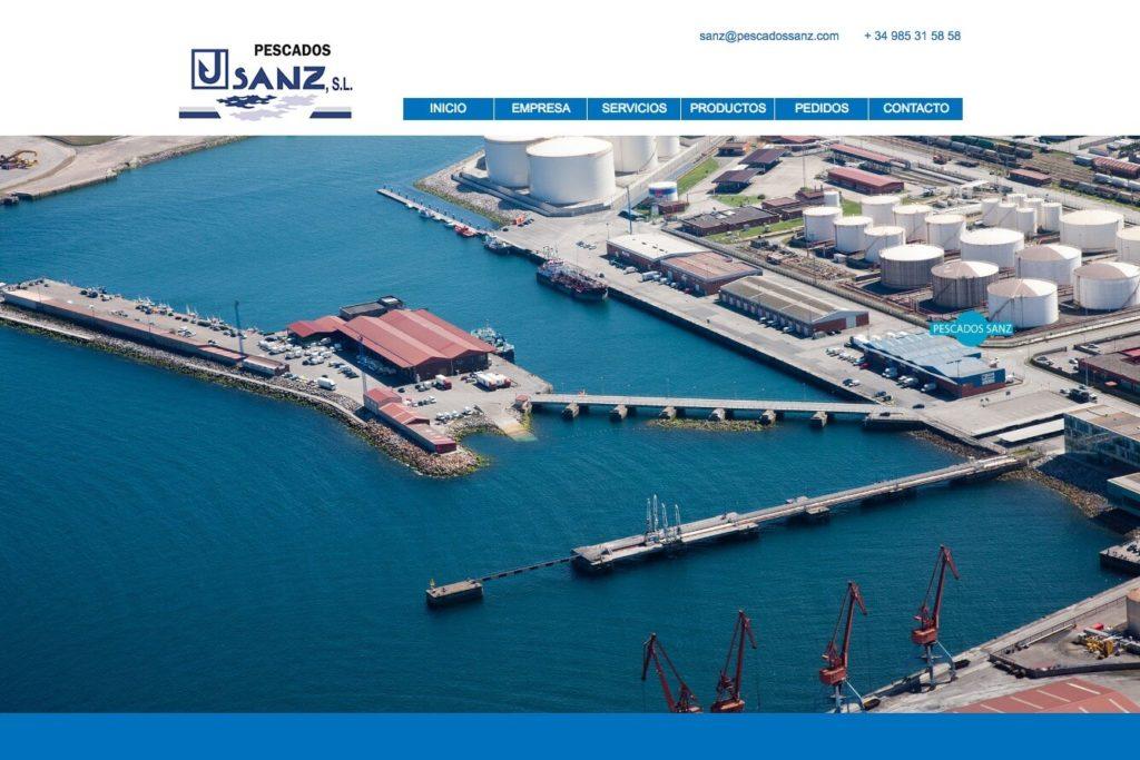 <span>www.pescadossanz.com</span> Web corporativa