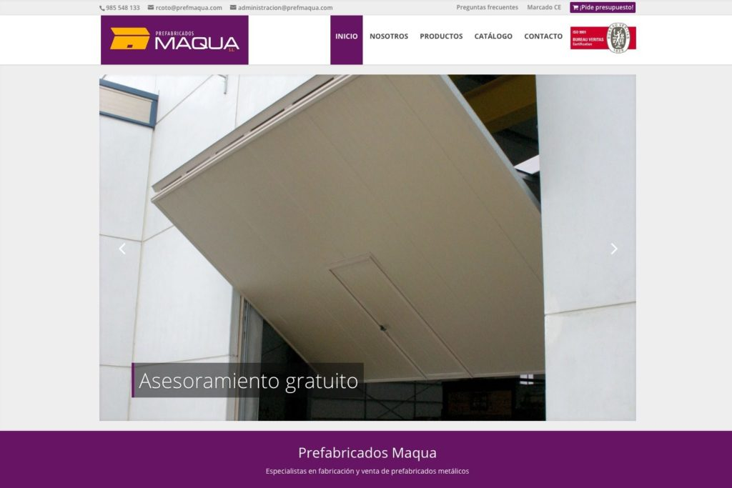 <span>www.prefmaqua.com</span> Web Corporativa · Catálogo online