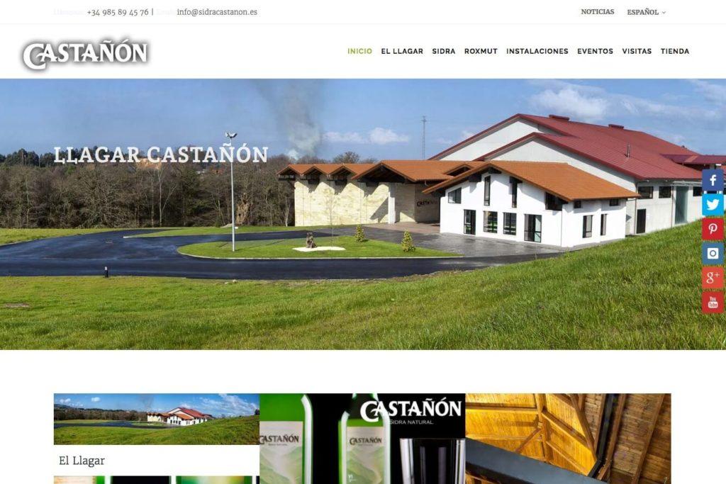 <span>www.sidracastanon.com</span> Web corporativa · Tres idiomas