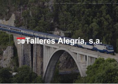 <span>www.talegria.com</span> Web Corporativa · Intranet · Dos idiomas