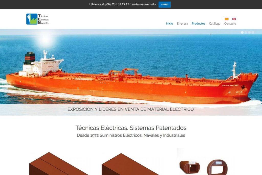 <span>www.tecnicas-mayra.com</span> Web corporativa · Dos idiomas
