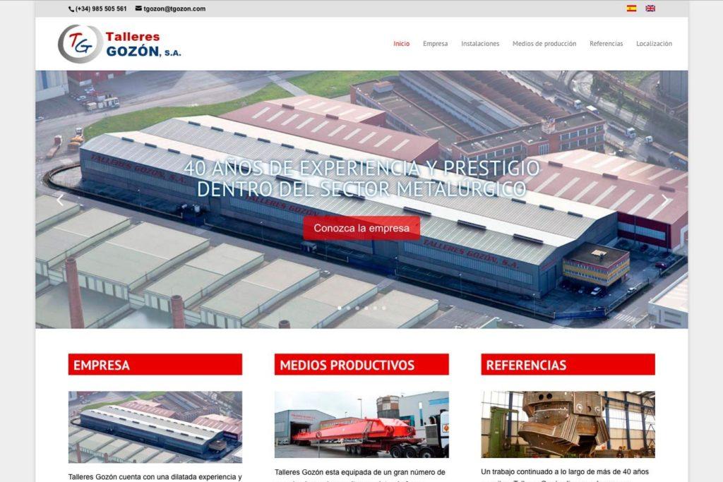 <span>www.tgozon.com</span> Web Corporativa · Dos idiomas