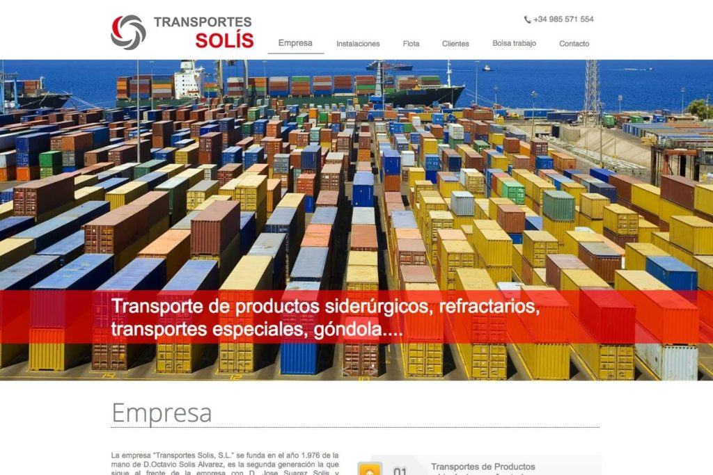<span>www.transolis.es</span> Web corporativa