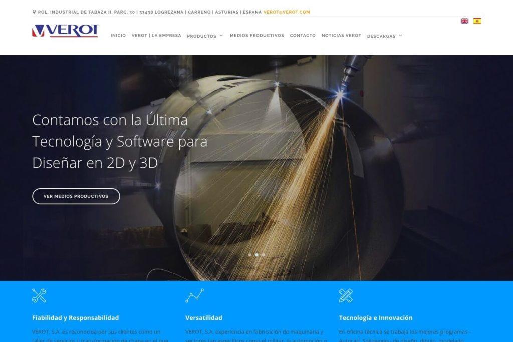 <span>www.verot.com</span> Web corporativa · Dos idiomas