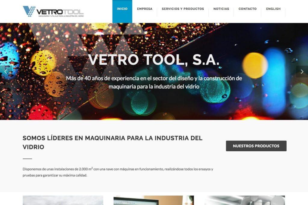 <span>www.vetrotool.com</span> Web corporativa · Dos idiomas