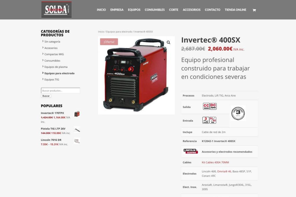 <span>www.soldaelectric.com</span> Tienda online