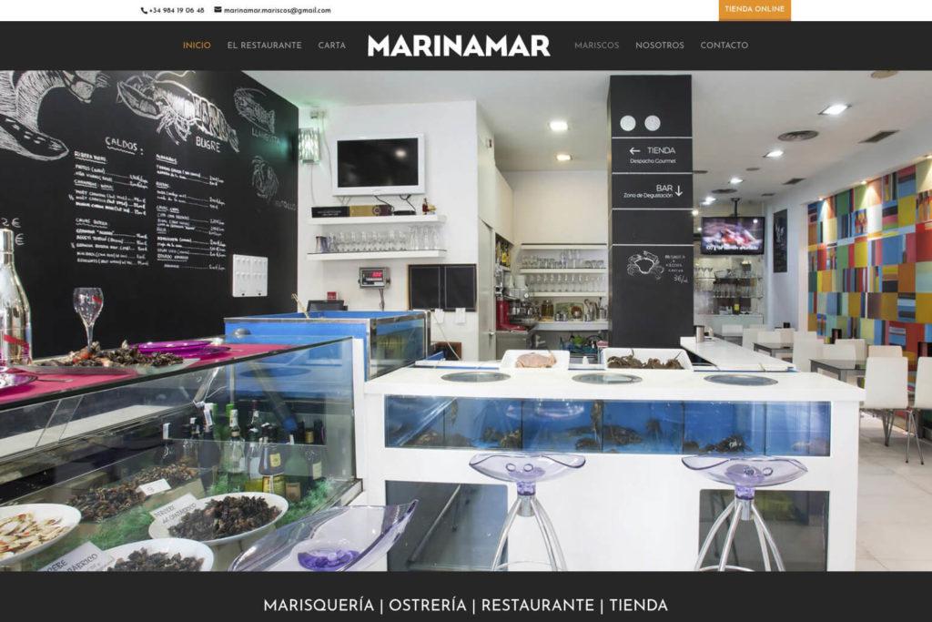 <span>www.marisqueriamarinamar.com</span> Web Restaurante